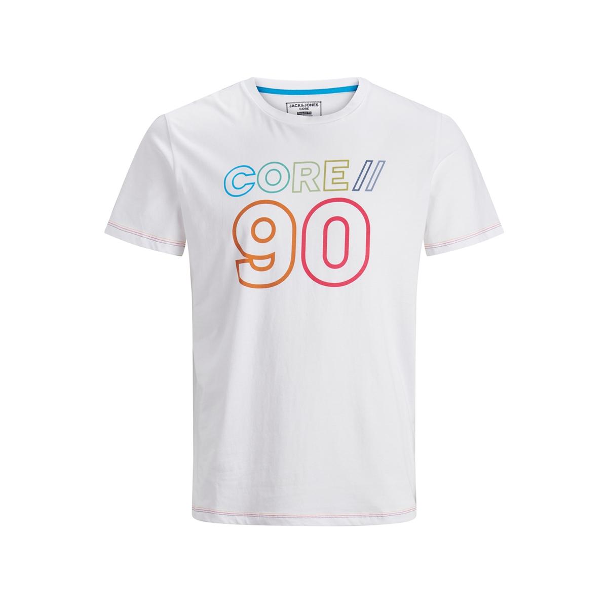 jcojacob tee ss crew neck 12171360 jack & jones t-shirt white/slim
