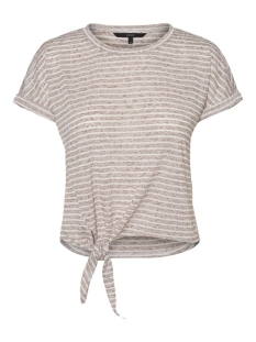 Vero Moda T-shirt VMRAKEL SS TOP JRS 10230828 Birch/BROWNIE ST
