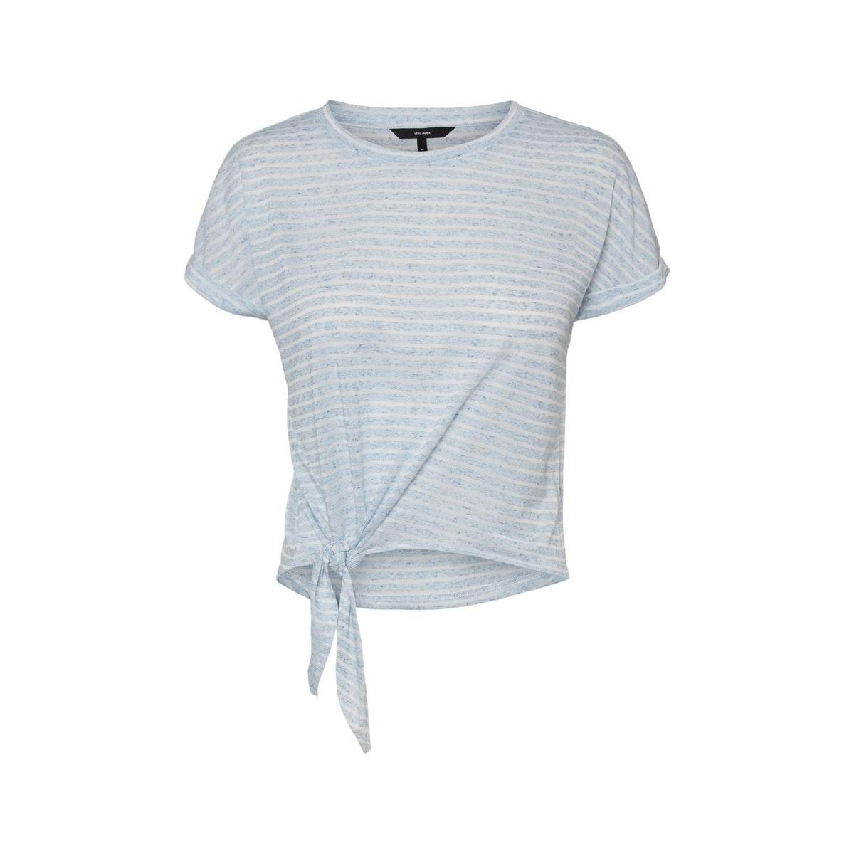 vmrakel ss top jrs 10230828 vero moda t-shirt birch/placid blue