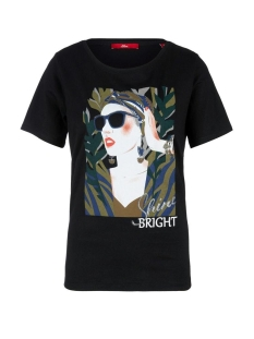 s.Oliver T-shirt T SHIRT MET MODIEUZE PRINT OP VOORKANT 21004326470 99D2