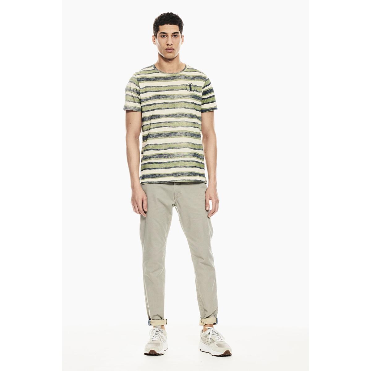 gestreept t shirt p01203 garcia t-shirt 1805 washed army