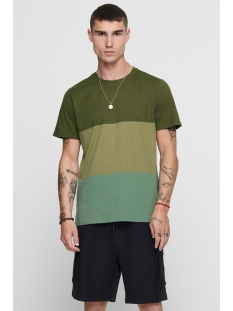 onsfrank  life slim tee nf 5810 22015810 only & sons t-shirt olive night