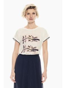 Garcia T-shirt T SHIRT MET SATIJNEN VOORKANT Q00012 53 Off white