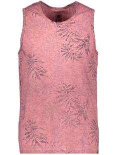 Garcia T-shirt SINGLET MET ALLOVER PRINT Q01014 4094 Dusty rouge