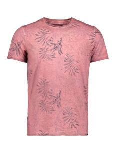 Garcia T-shirt T SHIRT MET ALLOVER PRINT Q01005 4094 Dusty rouge