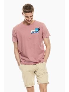Garcia T-shirt T SHIRT MET OPDRUK Q01001 4094 Dusty rouge