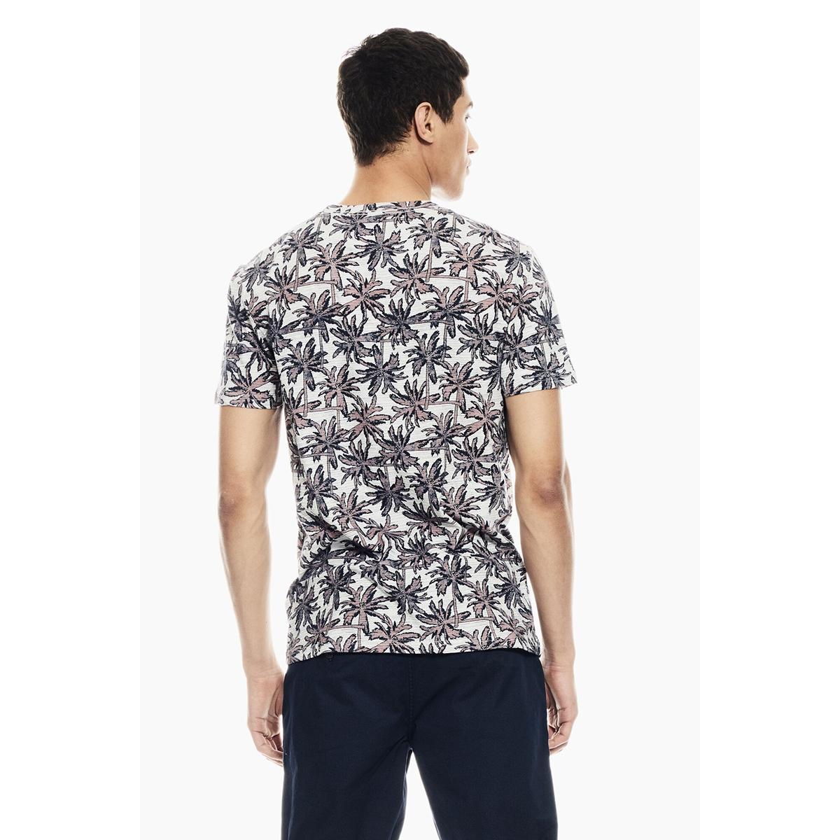 t shirt met allover print q01009 garcia t-shirt 625 white melee