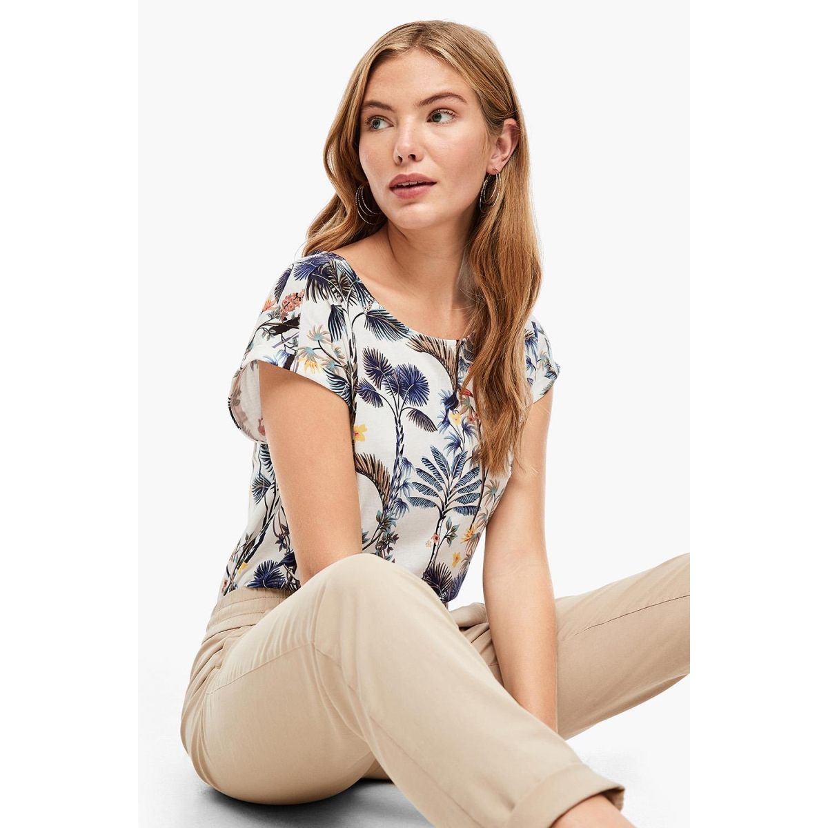 t shirt met jungle patroon 05006325349 s.oliver t-shirt 02b2