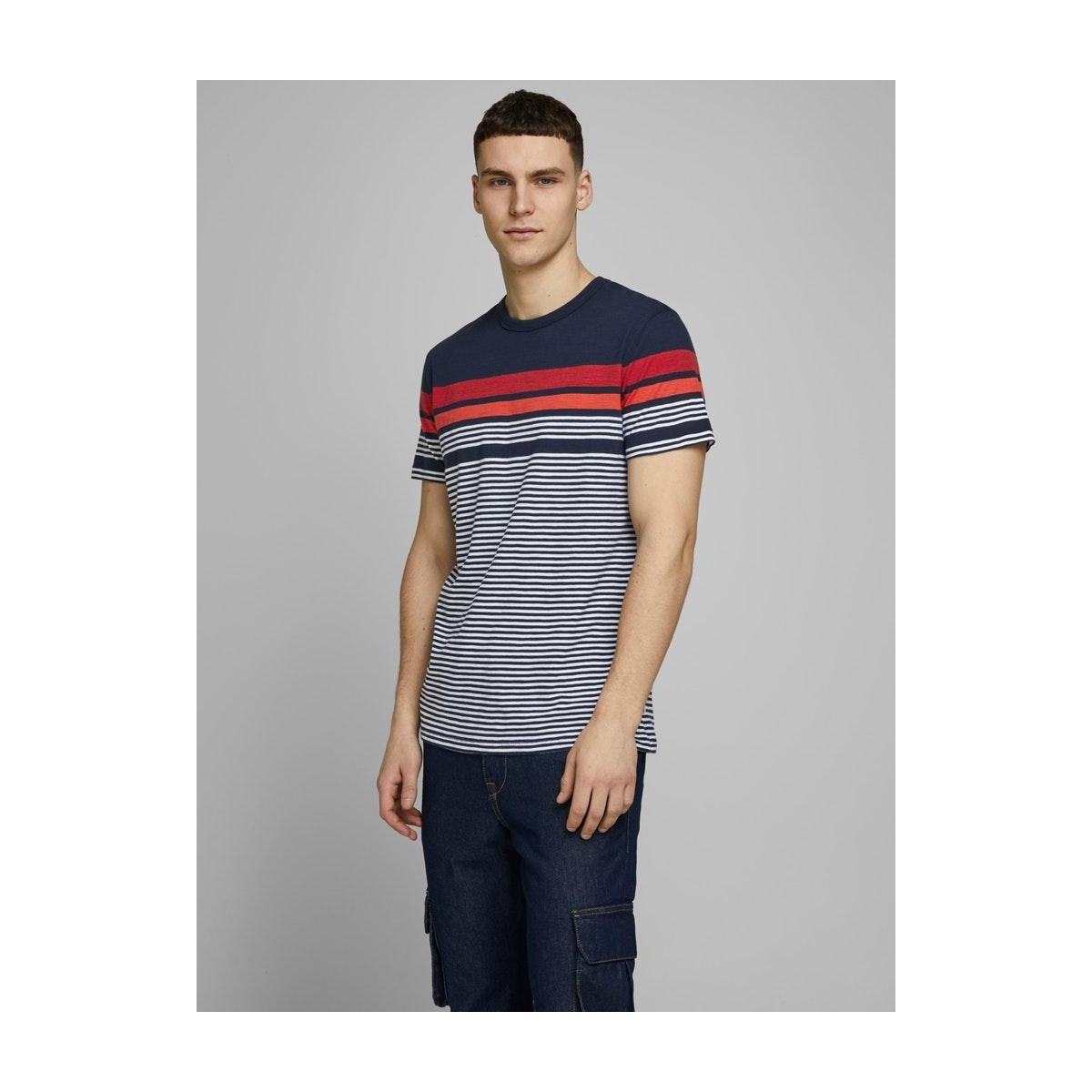jcoblue tee ss crew  neck 12171092 jack & jones t-shirt sky captain/slim