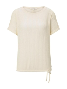Tom Tailor T-shirt T SHIRT MET ELASTISCHE TAILLEBAND 1019388XX71 22515