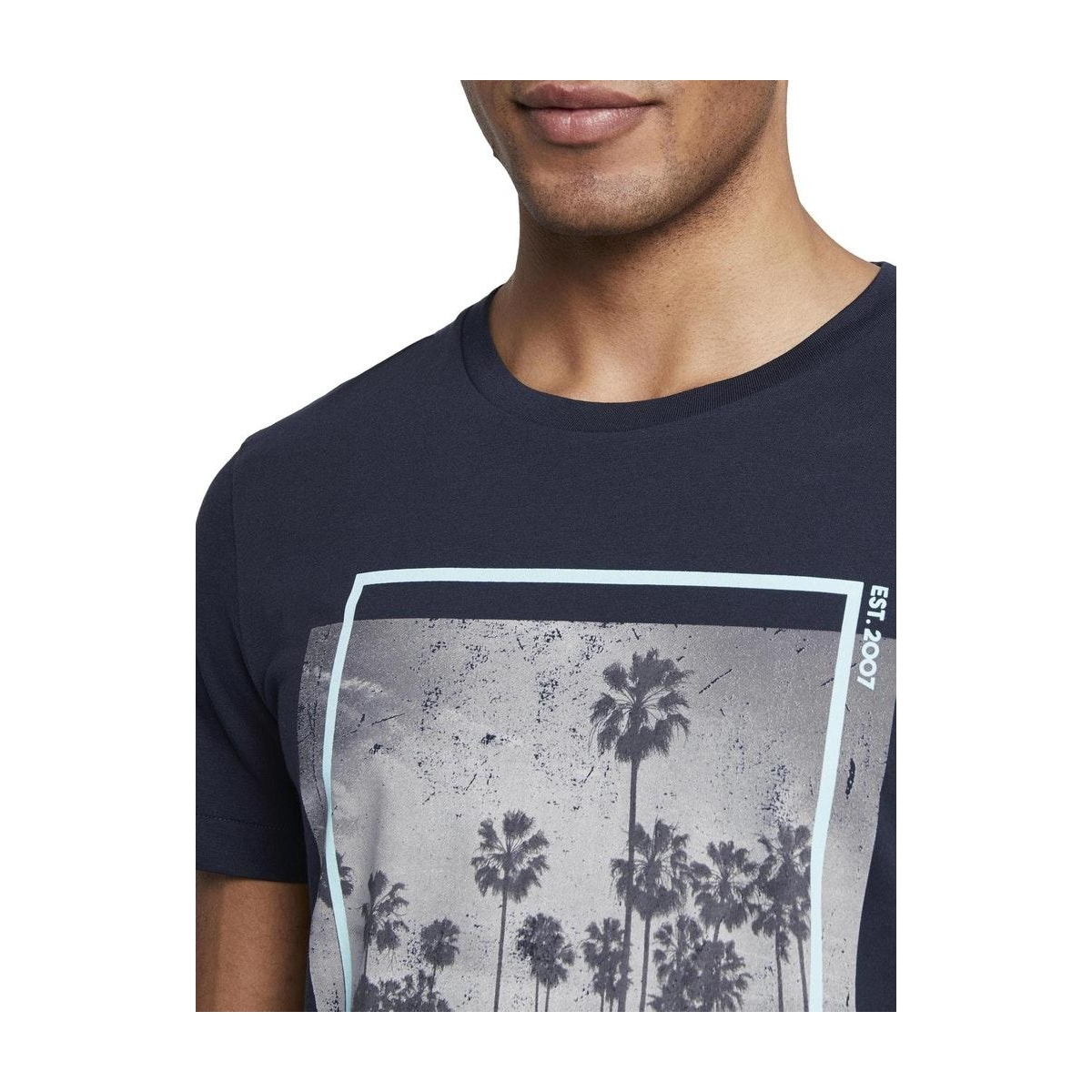 t shirt met palm print 1019590xx12 tom tailor t-shirt 10668