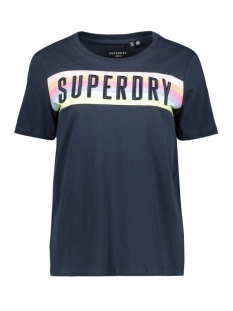 Superdry T-shirt SB RAINBOW ENTRY TEE W1010124A ECLIPSE NAVY