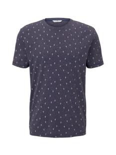 t shirt met all over print 1019660xx10 tom tailor t-shirt 23405