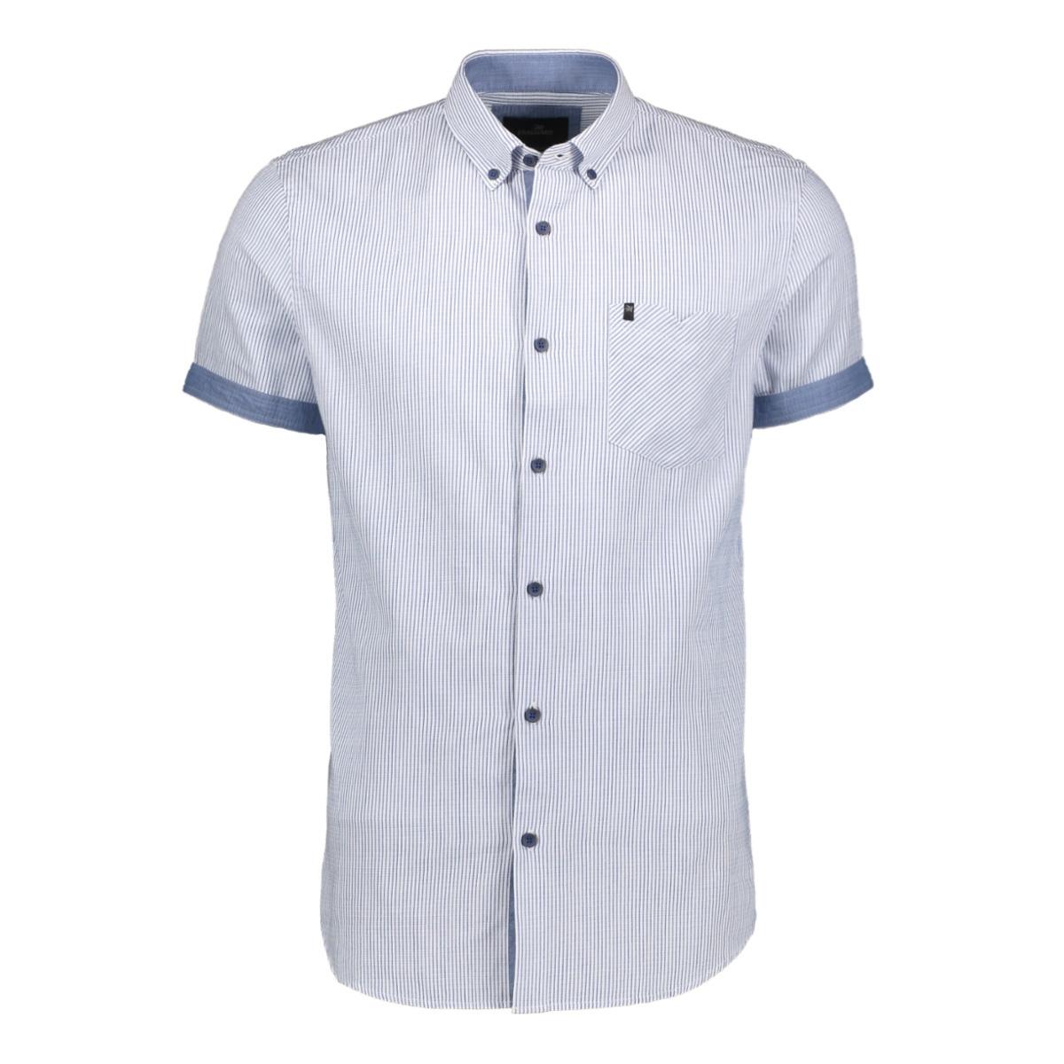 short sleeve shirt in woven stripe vsis204272 vanguard overhemd 5176
