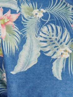 jortropicalbirds place tee ss crew 12173068 jack & jones t-shirt blue depths