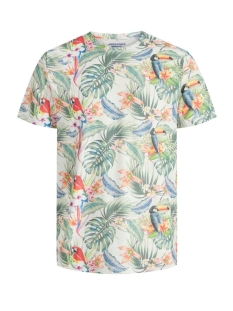 Jack & Jones T-shirt JORTROPICALBIRDS TEE SS CREW NECK 12173071 CLOUD DANCER