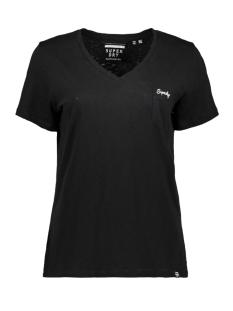 Superdry T-shirt OL ESSENTIAL VEE TEE W6010136A BLACK