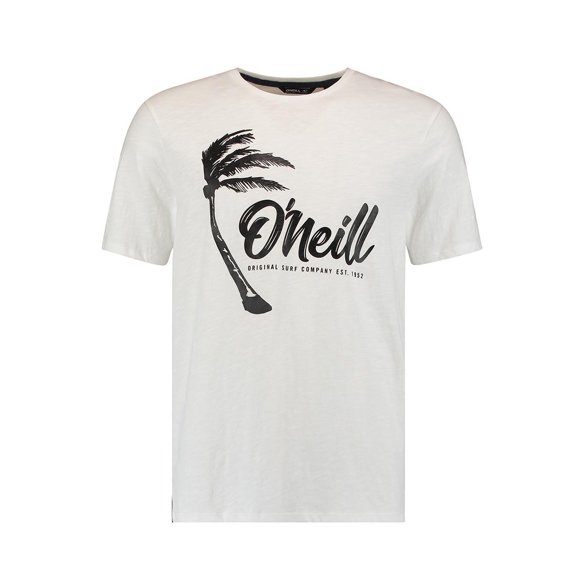 lm palm graphic t shirt 0a2352 o`neill t-shirt 1030 powder white