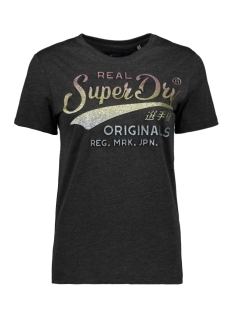 Superdry T-shirt RO GLITTER EMBOSS ENTRY TEE W1010007A CHARCOAL MARL
