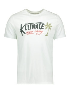 Kultivate T-shirt TS SUMMER LABEL 2001020200 203 Ecru