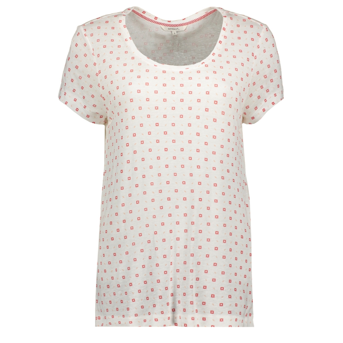 t shirt met all over sterren print 21101682 sandwich t-shirt 10058