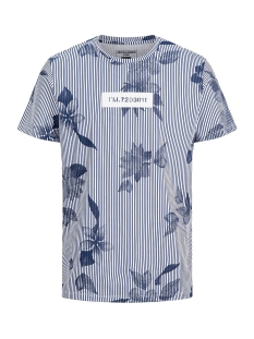 Jack & Jones T-shirt JCOFLOWER TEE SS CREW NECK 12173006 Navy Peony
