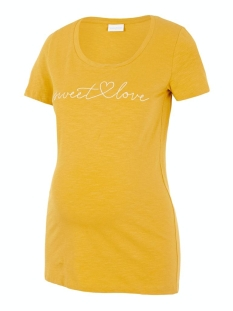 Mama-Licious Positie shirt MLELISE S/S JERSEY TOP A. 20011311 Chinese Yellow