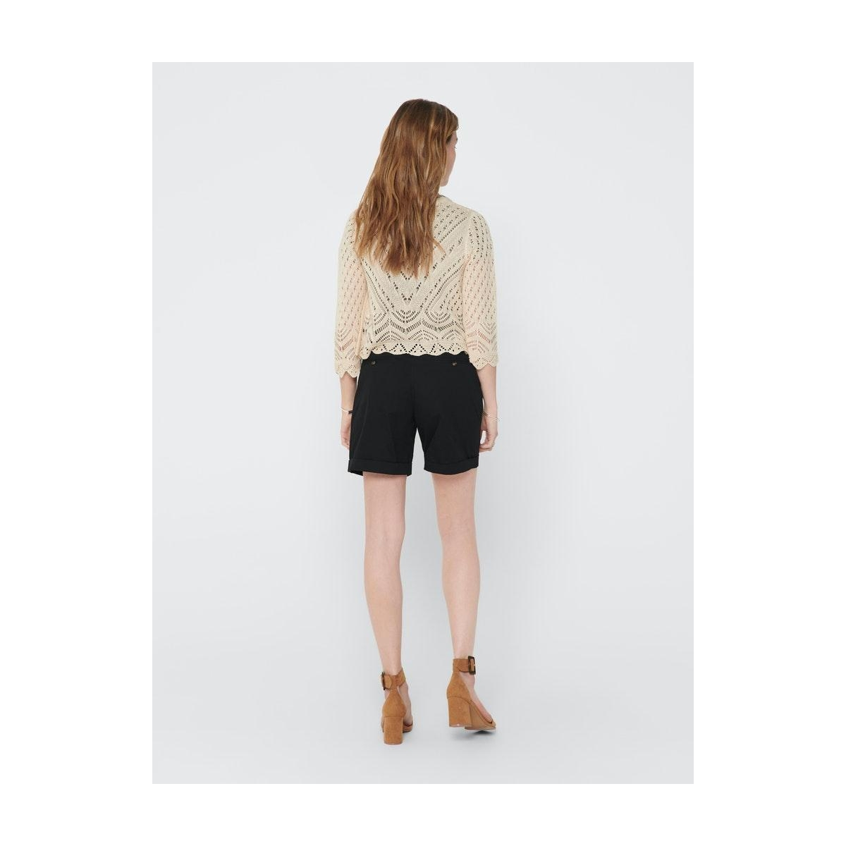 jdysun 3/4 cropped cardigan knt 15184486 jacqueline de yong vest tapioca