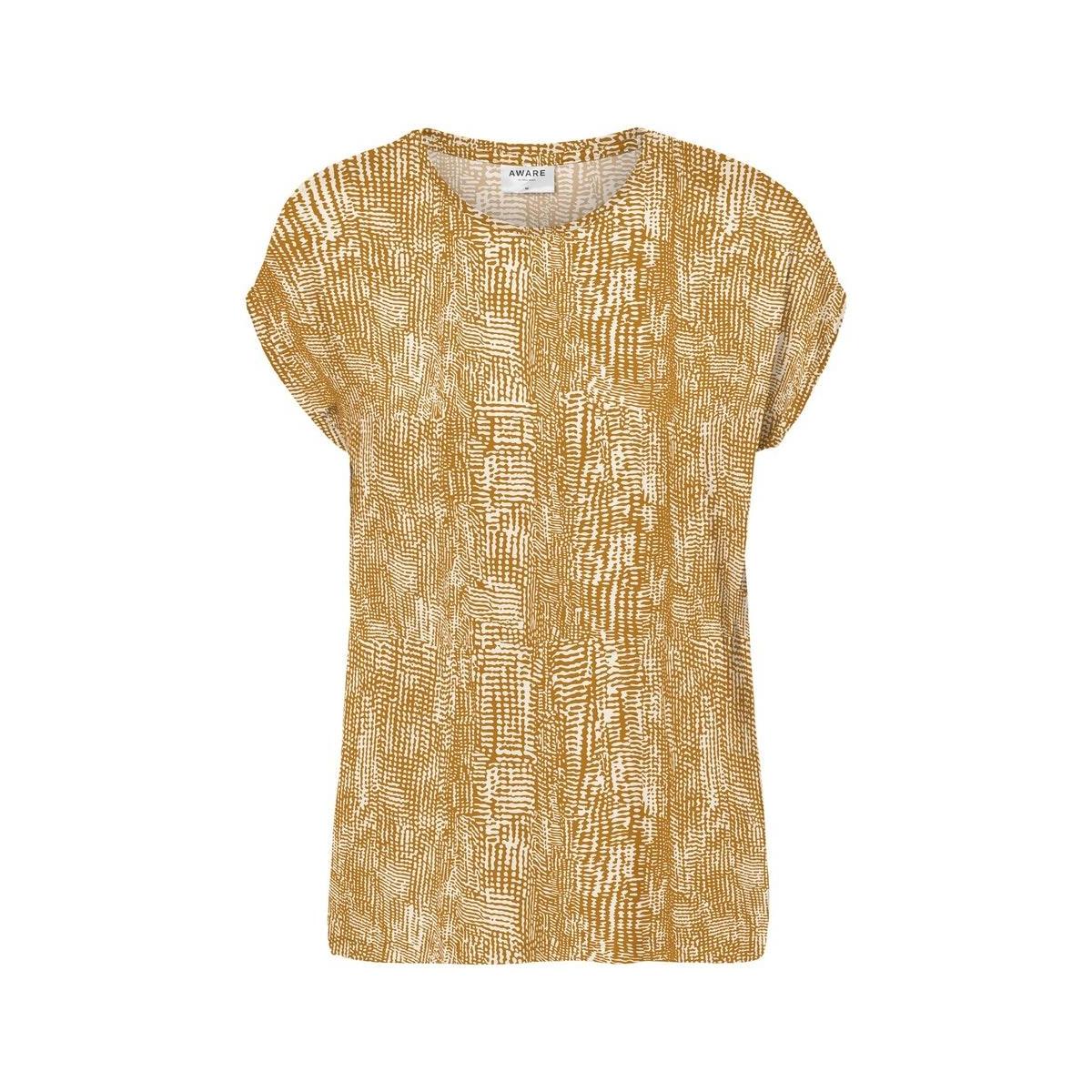 vmava plain ss top multi aop ga 10214302 vero moda t-shirt buckthorn brown/vibe