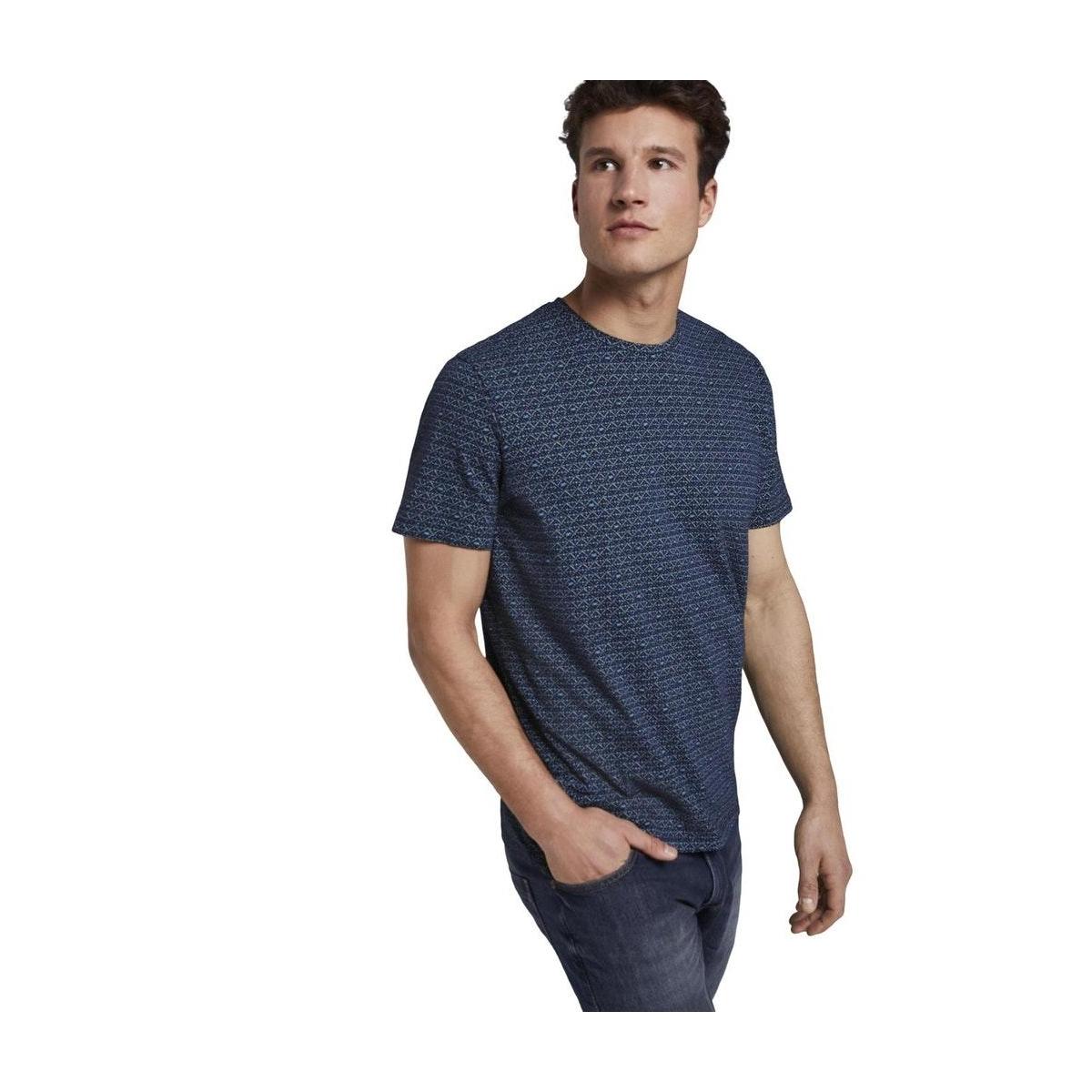 t shirt met all over print 1018893xx10 tom tailor t-shirt 22928