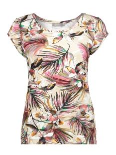 t shirt kate aop ss 02029 60 geisha t-shirt sand/rhubarb