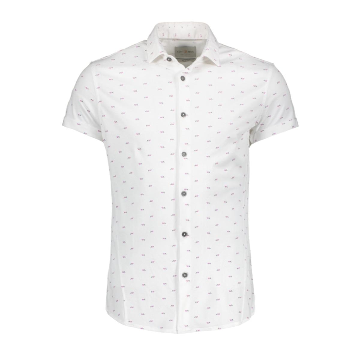 jersey pique shirt csis204656 cast iron overhemd 900 white