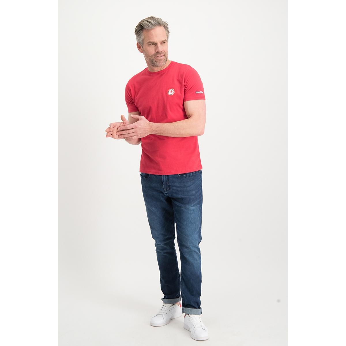 tee small globe mu13 0014 haze & finn t-shirt american red