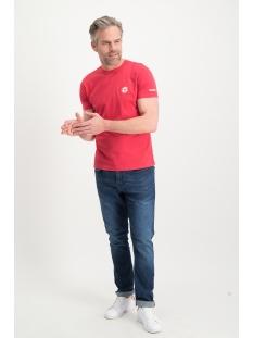 tee logo embro mu13-0010 haze & finn t-shirt american red
