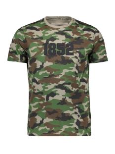 Haze & Finn T-shirt TEE 1852 MA13 0012 CAMO - WHITE EMBRO