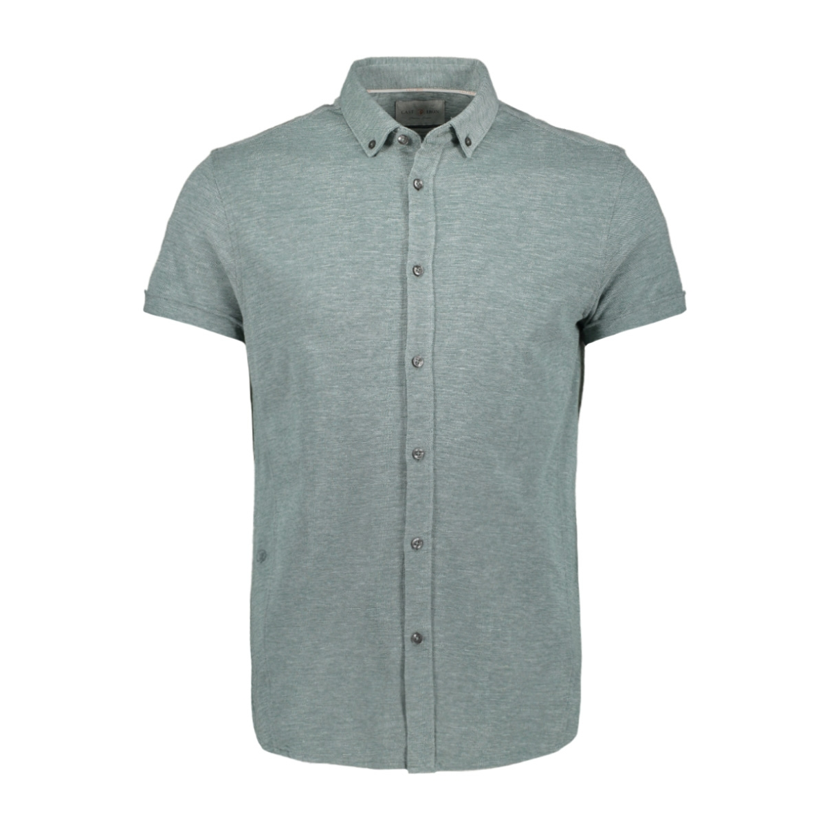 jersey pique shirt csis204658 cast iron overhemd 6080 mallard green