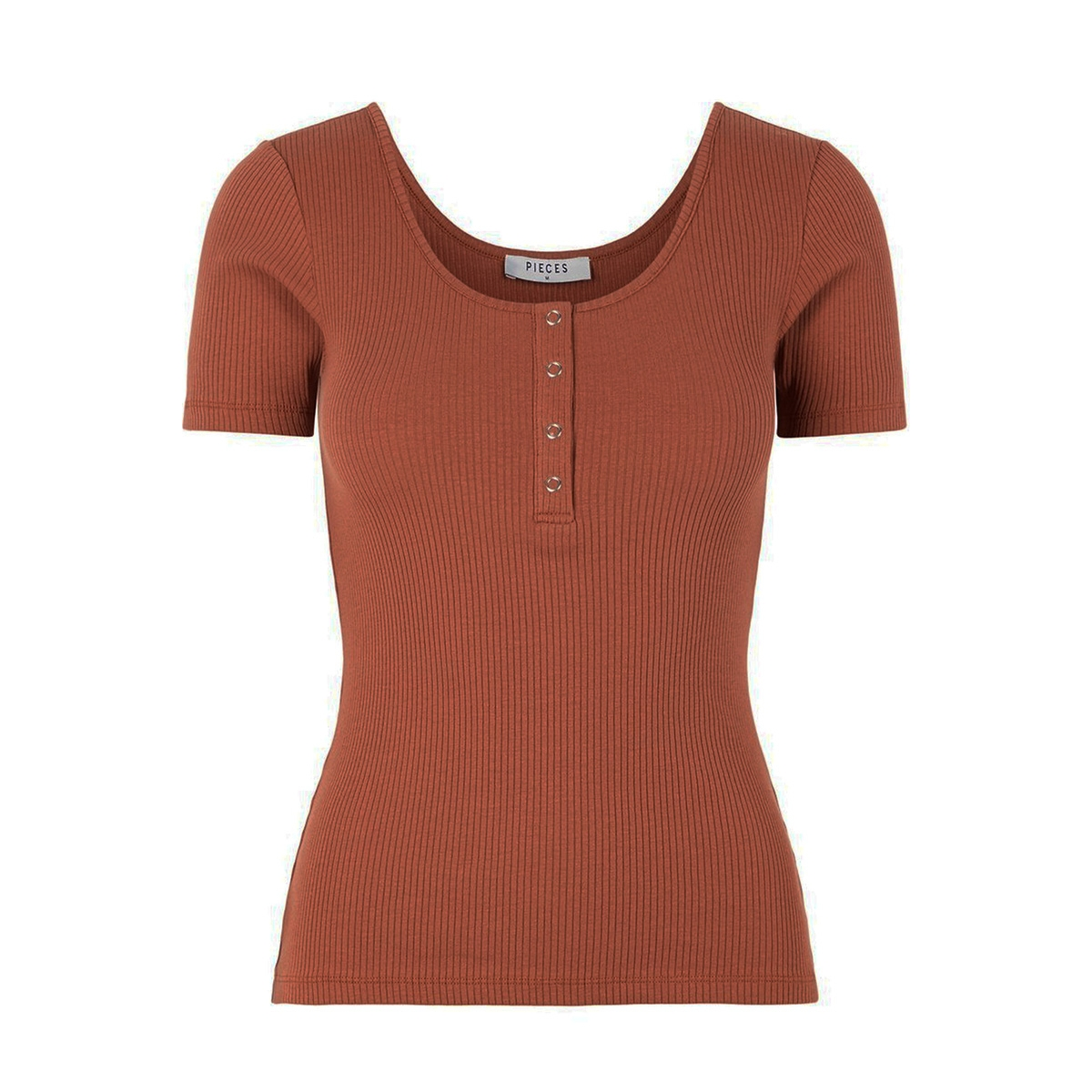 pckitte ss top noos bc 17101439 pieces t-shirt mocha bisque/cp