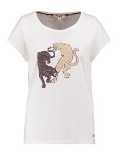 Garcia T-shirt T SHIRT MET PRINT S00002 53 Off White