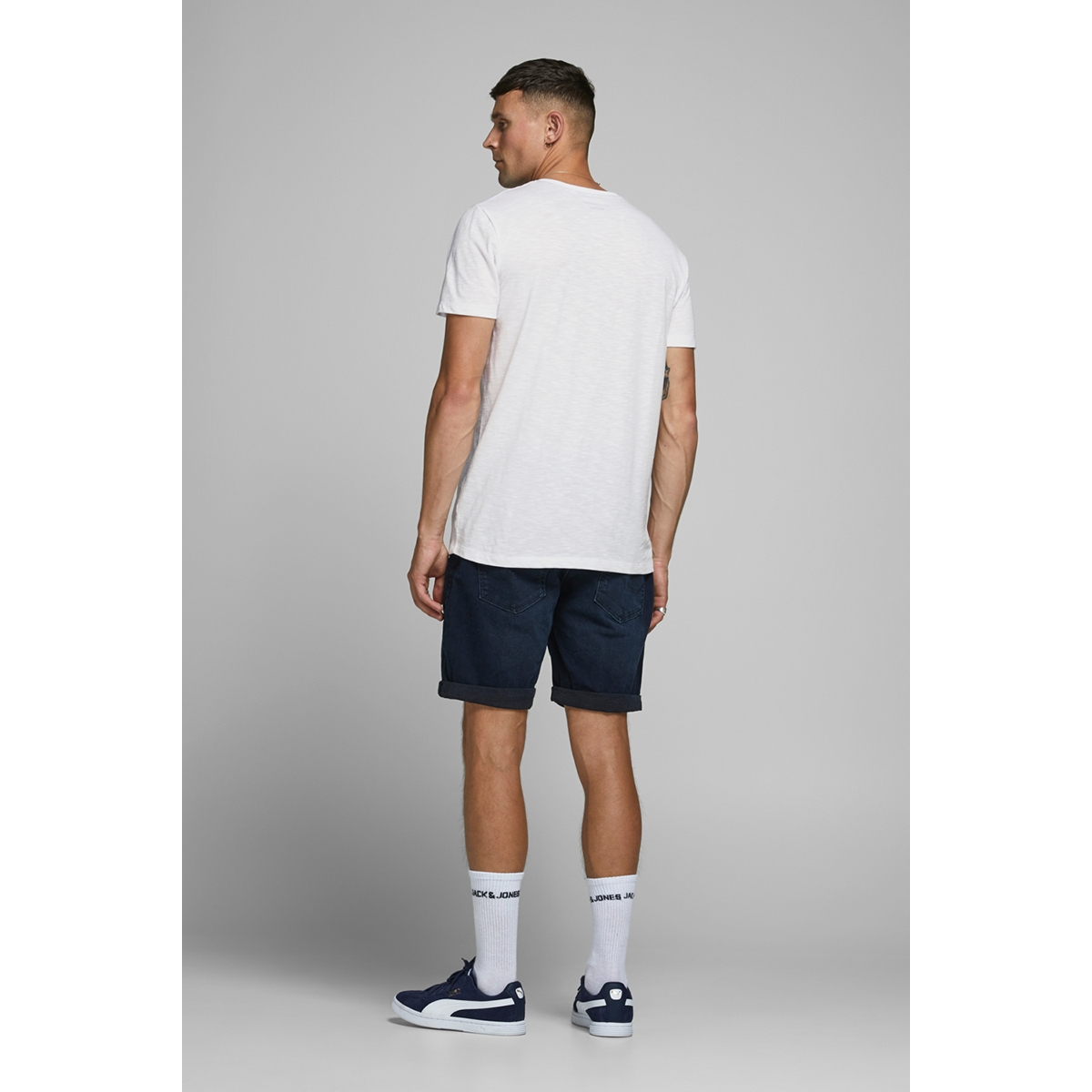 jjjones tee ss crew neck 12175124 jack & jones t-shirt white/slim