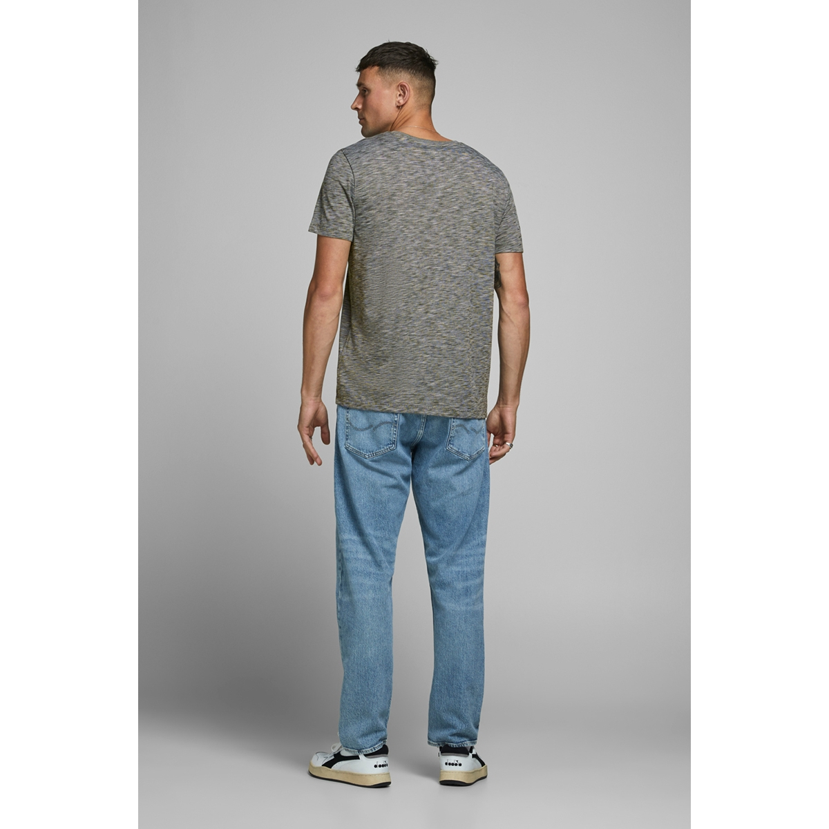 jjjones tee ss crew neck 12175124 jack & jones t-shirt forest night/slim