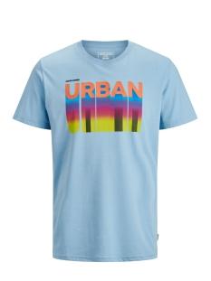 jcohoff tee ss  crew neck 12171363 jack & jones t-shirt dusk blue/slim
