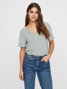 Vero Moda T-shirt VMPOLLY SS TOP JRS 10230884 Snow White/LAUREL
