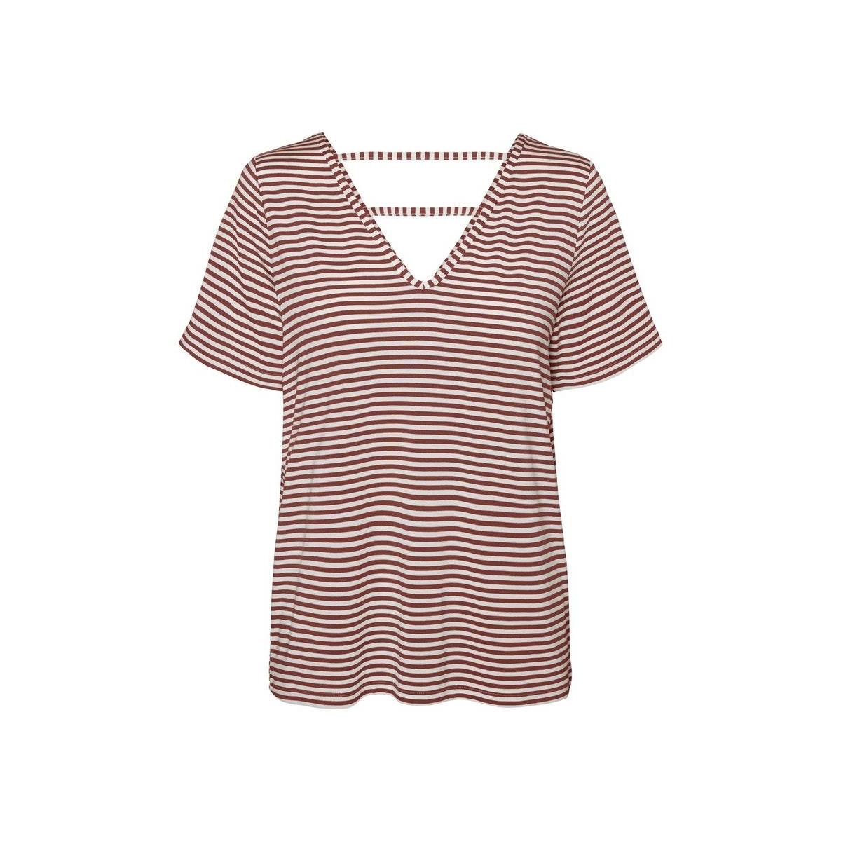 vmpolly ss top jrs 10230884 vero moda t-shirt snow white/sable