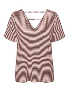 Vero Moda T-shirt VMPOLLY SS TOP JRS 10230884 Snow White/SABLE