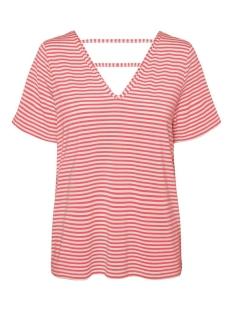 Vero Moda T-shirt VMPOLLY SS TOP JRS 10230884 Snow White/DUBARRY