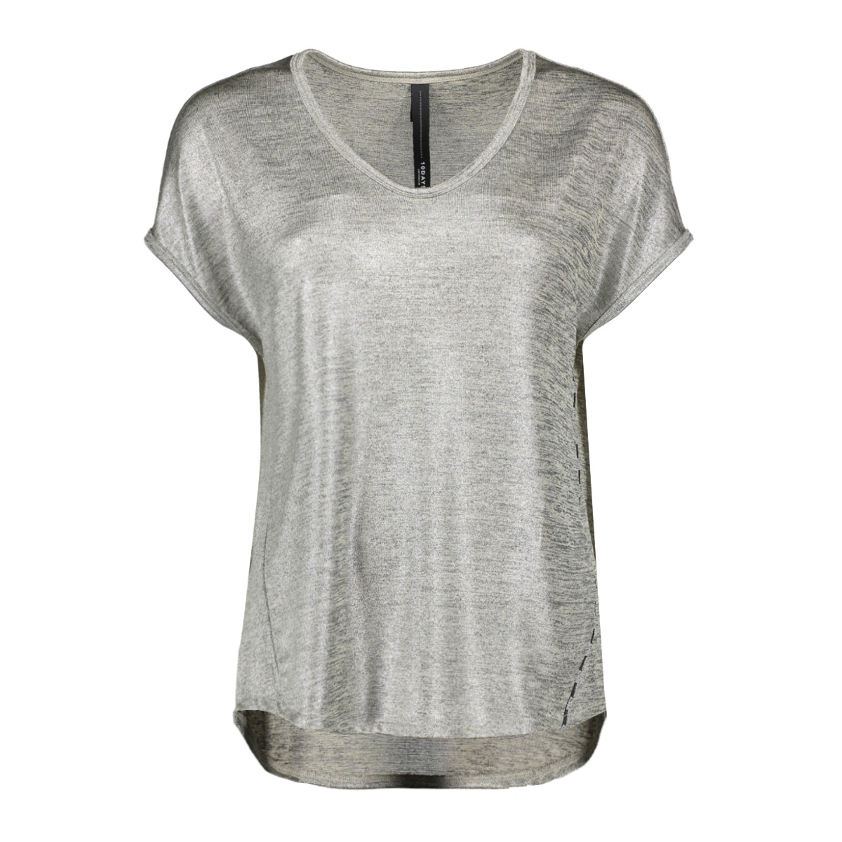 the foil tee 20 745 0203 10 days t-shirt 1015 silver