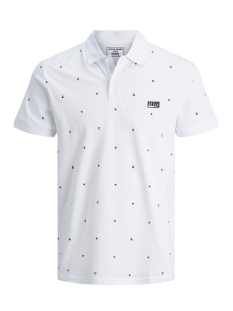 Jack & Jones Polo JCOAPOLLO SS POLO 12178714 White/SLIM