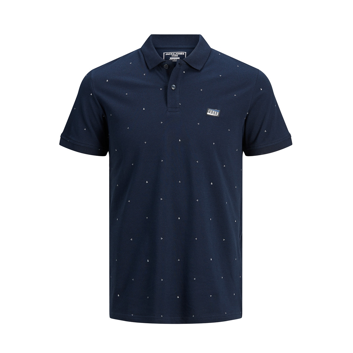jcoapollo ss polo 12178714 jack & jones polo navy blazer/slim