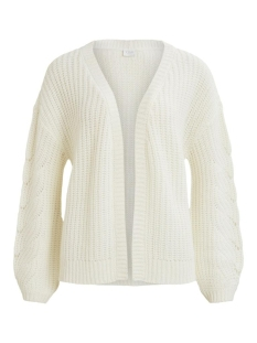 Vila Vest VISEE KNIT V-NECK L/S CARDIGAN 14058255 Whisper White