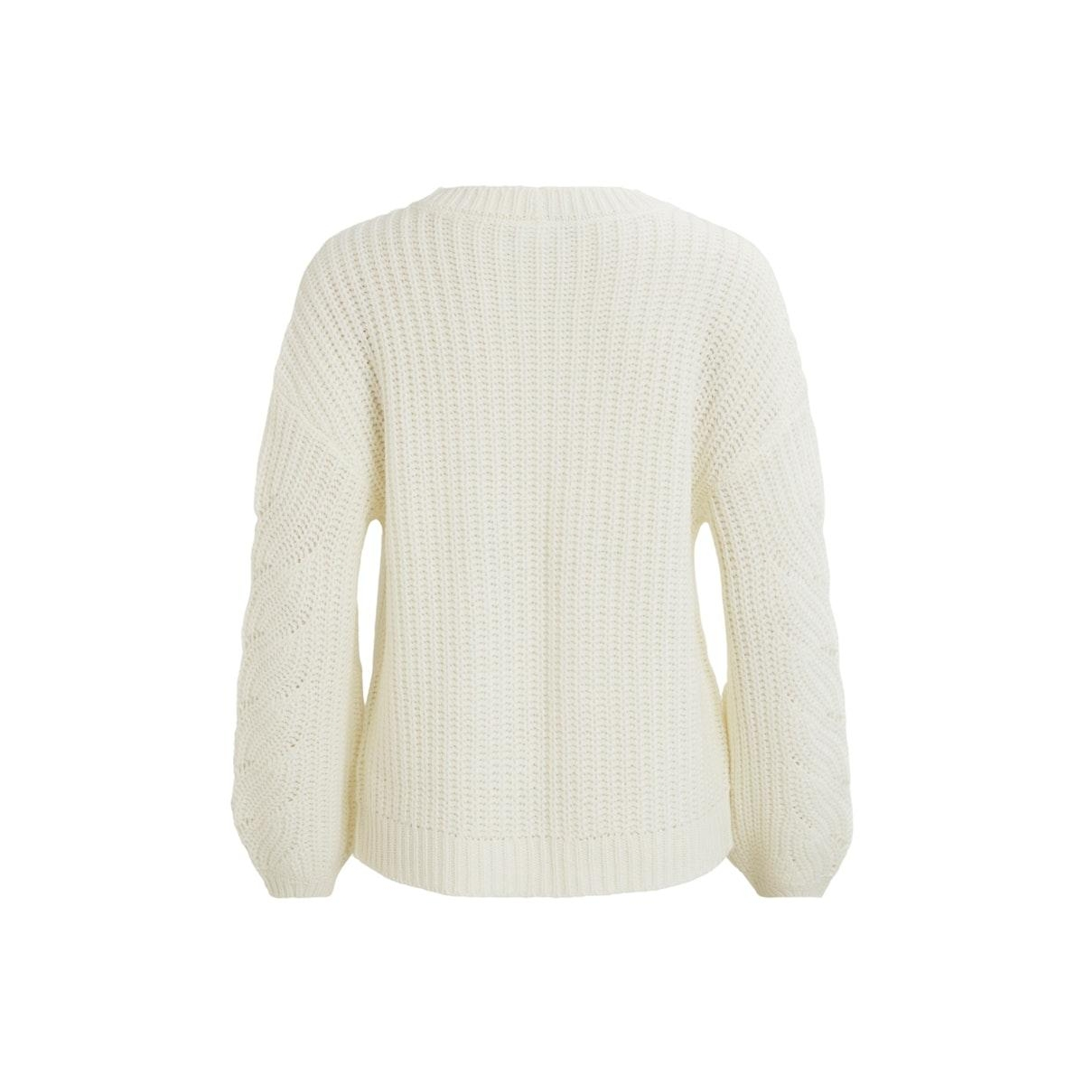 visee knit v-neck l/s cardigan 14058255 vila vest whisper white